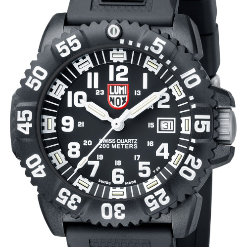 Sus scrofa Luminox Navy SEAL Colormark Svart/Vit: 3051